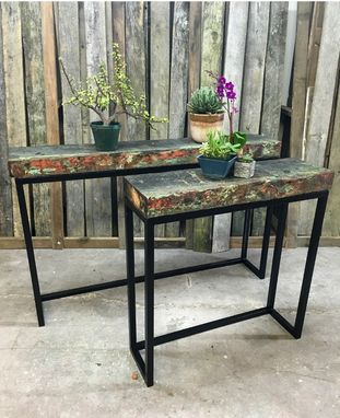 Custom Made Marine Wood Console Table