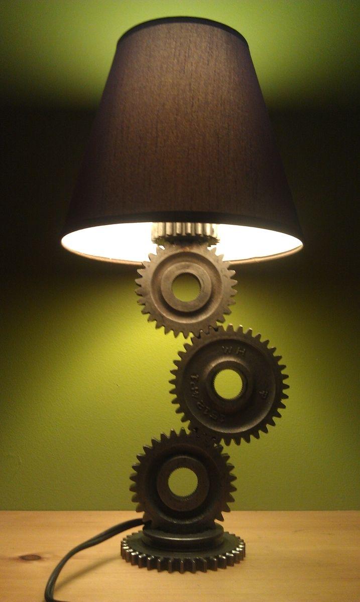 Custom Made Gear Lamp By Moto Metal Fab Custommade Com
