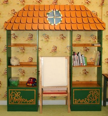 Custom Made Cabinets For Kids Room (Attic Roof)