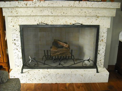Custom Made Custom Wrought Iron Fire Screen