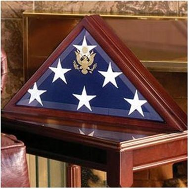 Custom Made Memorial Flag Case - Burial Flag Boxes