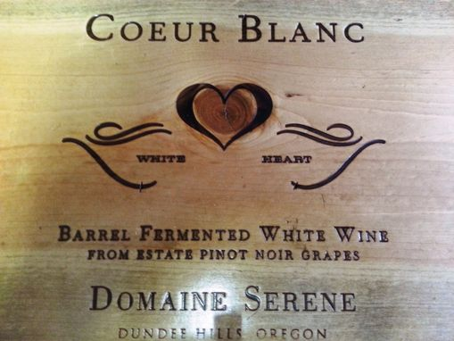 Custom Made Wine Lover's Anniversary Gift: Wine Crate Keyhook- Coeur Blanc