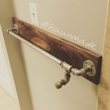 Custom Made Walnut Towel Rack