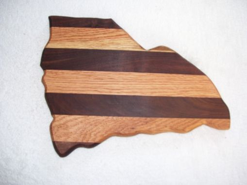 Custom Made State Of South Carolina Cutting Board Made From Walnut And Oak