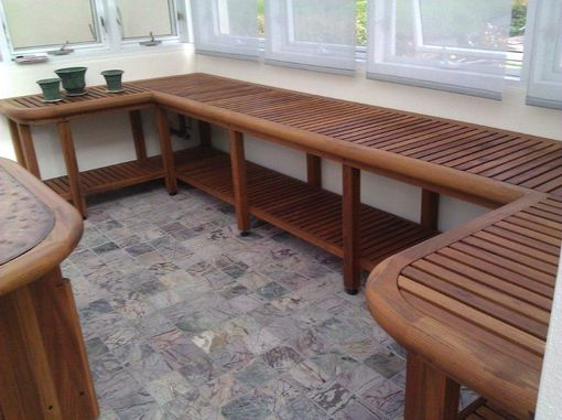 Custom Made Teak Green House Work Bench