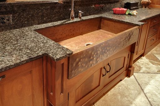 Custom Made Mcnabb Farm Style Copper Sink