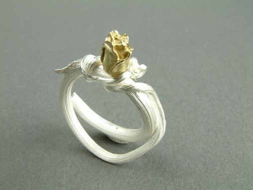 Custom Made Gold Rosebud Ring