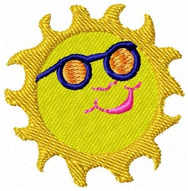 Custom Made Sun Embroidery Design