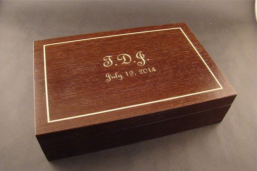 Custom Made Custom Engraved Wood Jewelry Box In Wenge