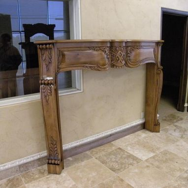 Custom Made Hand Carved Fireplace Mantles