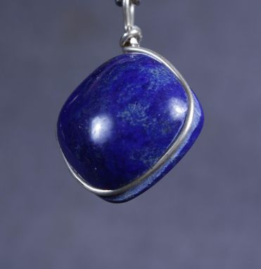 Custom Made Lapis Lazuli With Pyrite Pendant In Sterling Silver