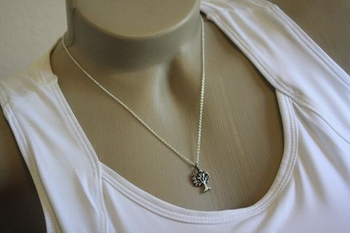 Custom Made Fine Silver - Tiny Tree Of Life Necklace - $60