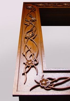 Custom Made Floral Carved Tables