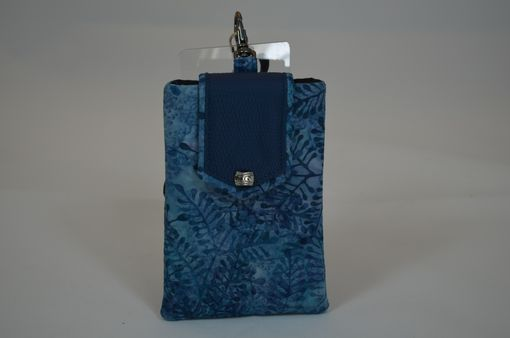 Custom Made Batik And Leather Phone Pouch