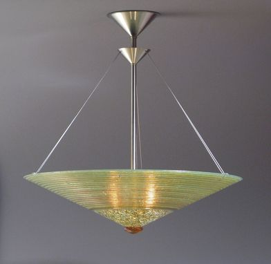 Custom Made Gold Concentric Rings Cone Light