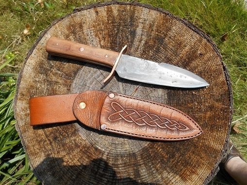 Custom Made Celtic Knotwork Knife Sheath