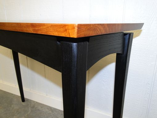 Custom Made Ruby Entry/Hall Table In Mesquite & Ebonized Ash