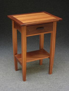 Custom Made Bedside Table With Breadboard Ends