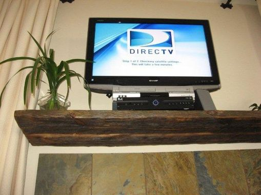 Custom Made Reclaimed Lumber Mantle