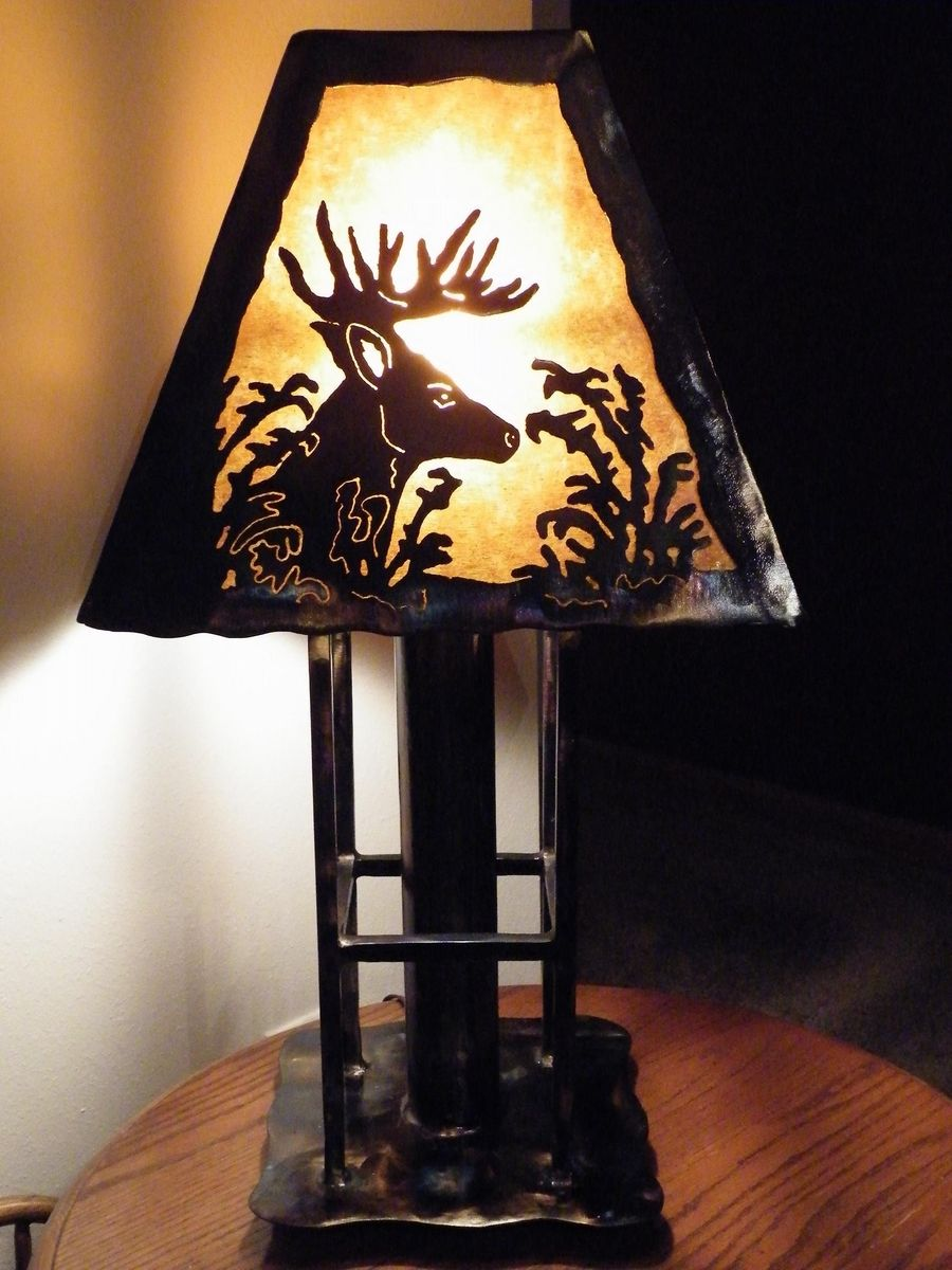 Hand Made Deer Table Lamp By Dakota Rustic Creations