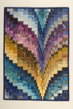 Custom Made Color Shift Bargello Wall-Hanging