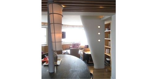 Custom Made Penthouse Apartment. Lighting And Table Legs