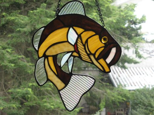 Custom Made Stained Glass Largemouth Bass
