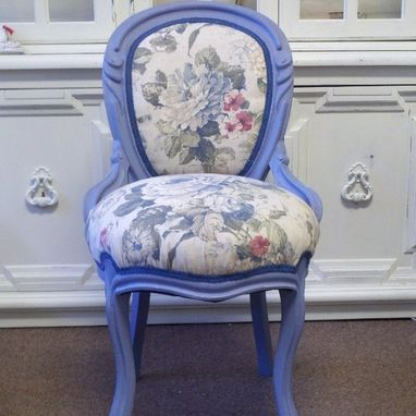 Custom Made Blue Rose Chair