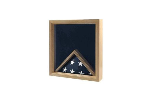 Custom Made Flag Medal Display Case, Military Flag Box