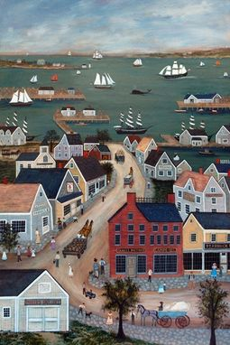 "Custom Made ""Nantucket Harbor"" - Limited Edition Giclee Print By J.L. Munro"