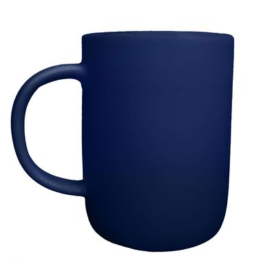 Custom Made Extra Large Matte Porcelain Usa Made Mug- Indigo