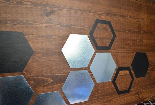 Mod Honeycomb 48x20 Wood Wall Art Metal Home Decor Abstract
