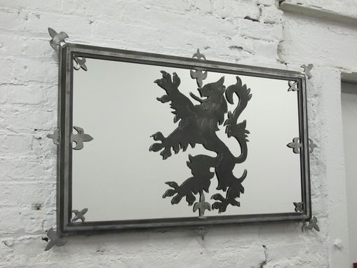 Custom Made Lion Rampant Scottish Mirror