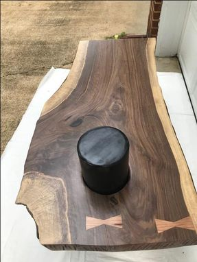 Custom Made Custom Made Live Edge Waterfall Coffee Table