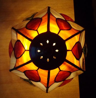 Custom Made Edwardian Style Stained Glass Lamp