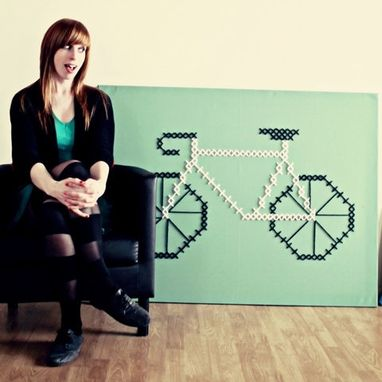 Custom Made Giant Bike Cross-Stitch
