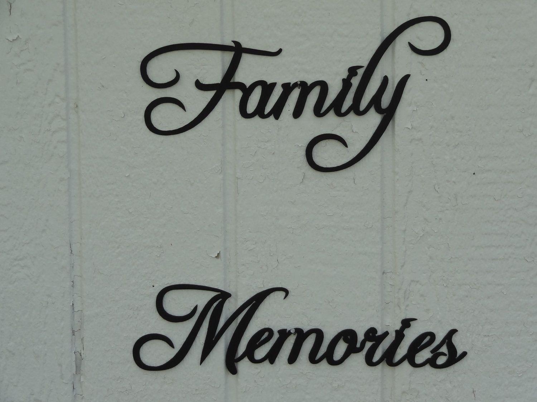 Custom Made Family Memories Phrase Decorative Metal Wall