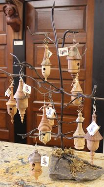 Custom Made Birdhouse Christmas Ornaments