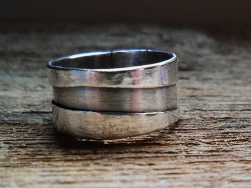 Custom Made Sterling Silver Mens Or Womens Band Ring