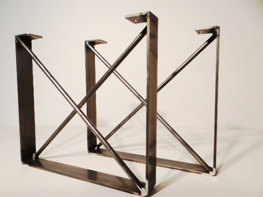 Buy custom metal dining table legs made to order from for Dining table with metal legs