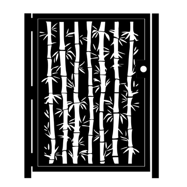 Custom Made Artistic Metal Bamboo Gate - Decorative Garden Gate - Handmade - Security Door