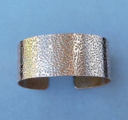 Custom Made Copper Tiny Flowers Patterned Cuff
