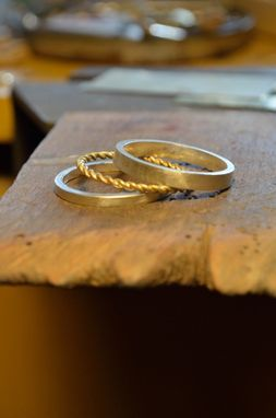 Custom Made Twisted Wire Wedding Rings