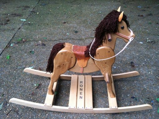 Custom Made Wooden Rocking Horse