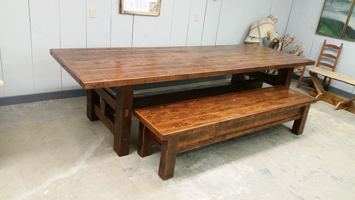 Custom Made Barn Board Table,Bench And Coffee Table