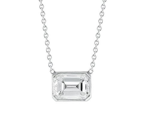 Custom Made Diamond Solitaire Pendant