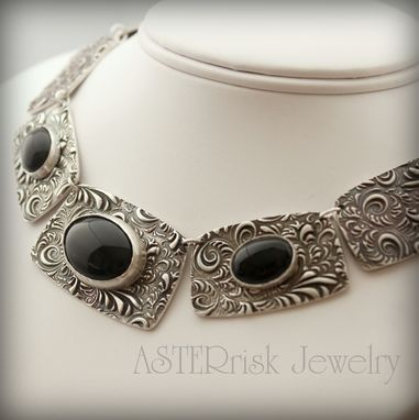 Custom Made Sterling Silver And Gemstone Necklace