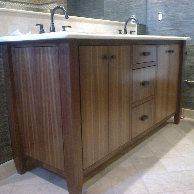 Bathroom Vanities Hobo custom made modern walnut bath vanitydennisbilt custom