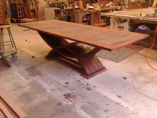 Custom Made Contemporary Walnut And Mesquite Dining Table