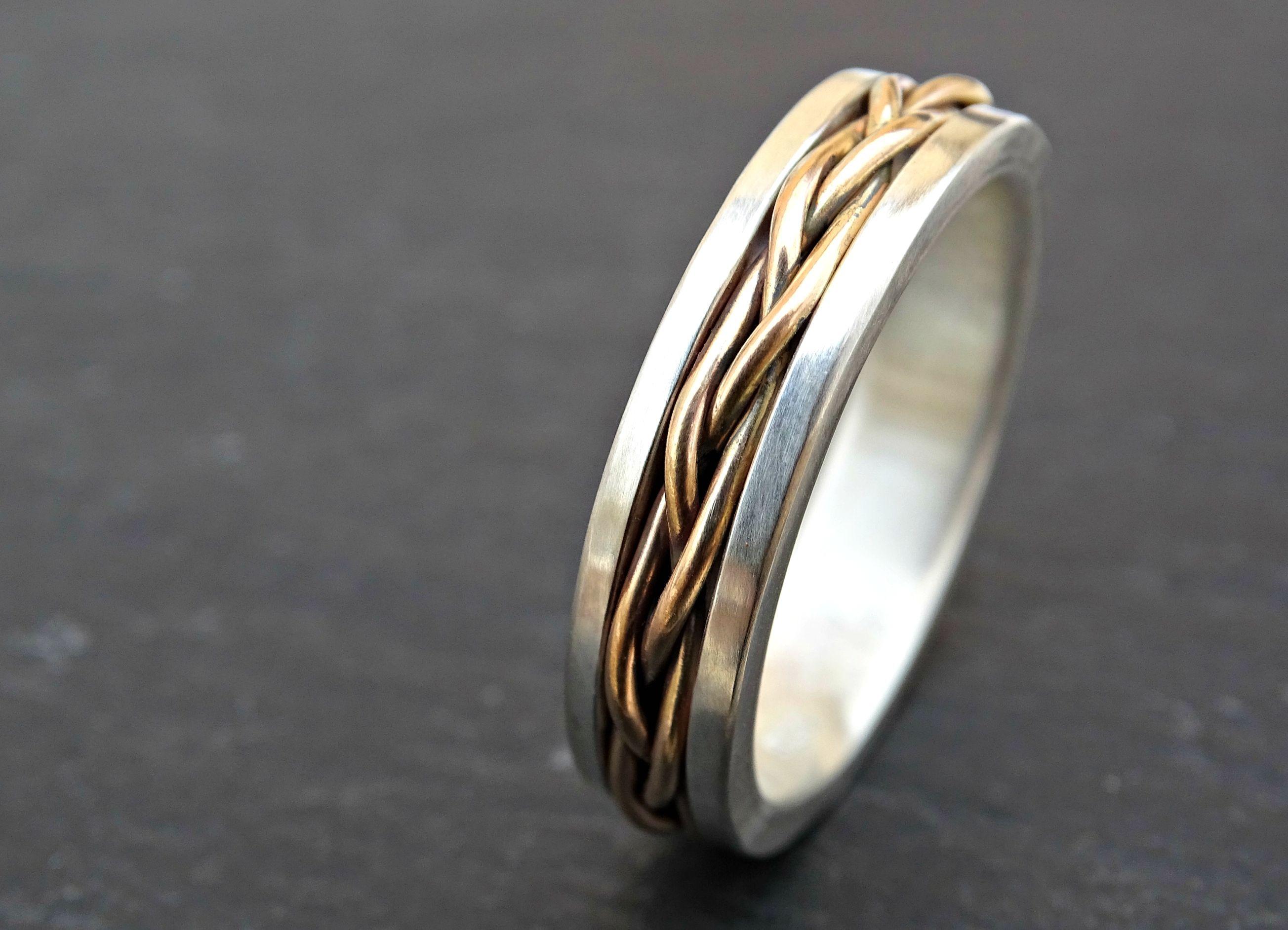 Buy a Custom Made Celtic Wedding Band Men Gold Braided Wedding